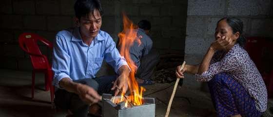 Families warm up to fuel-efficient stoves scheme