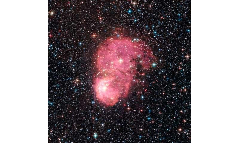 Festive nebulae light up Milky Way Galaxy satellite