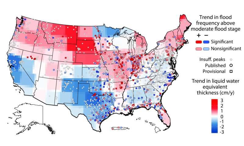 Flood Threats Changing Across Us Study Finds Flood Risk Growing In - Map-of-flooding-in-us