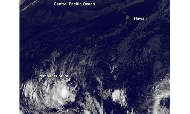 Former Hurricane Pali peters out near Equator