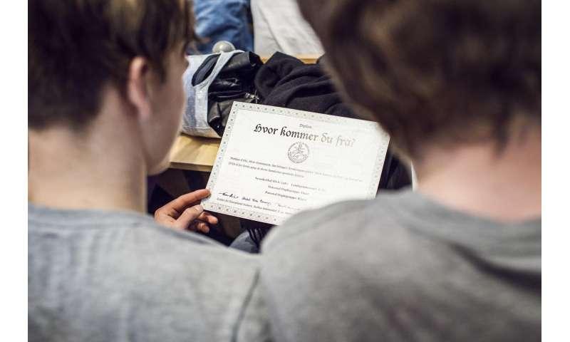Genomic study of high school students from Denmark reveals remarkable genetic homogeneity