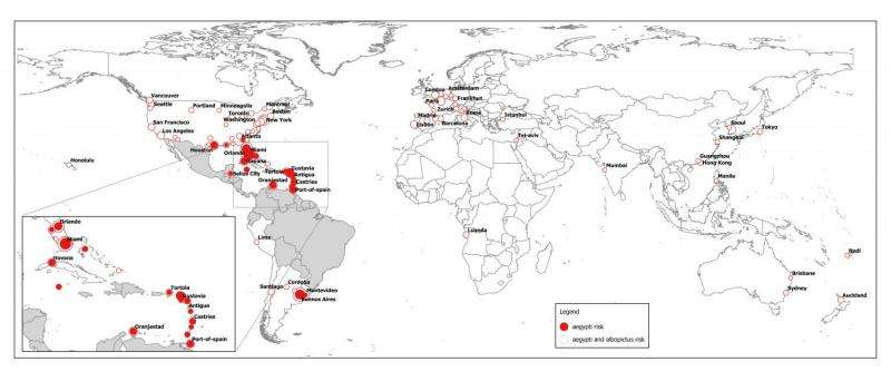 Global spread of Zika linked to types of mosquitos that transmit it