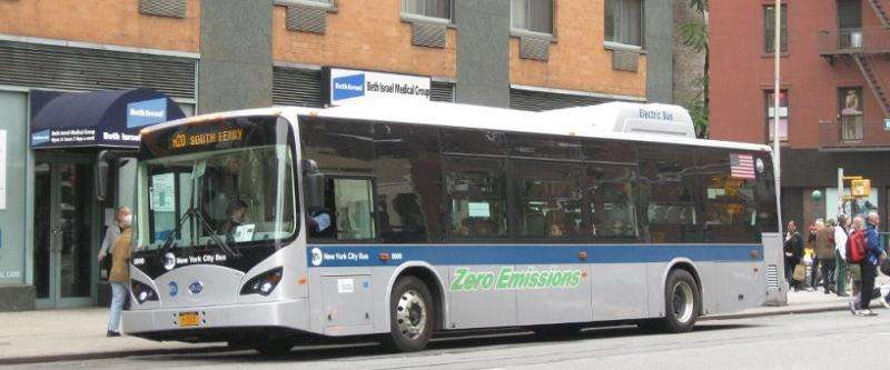 Going electric adds up to a good idea for NYC buses