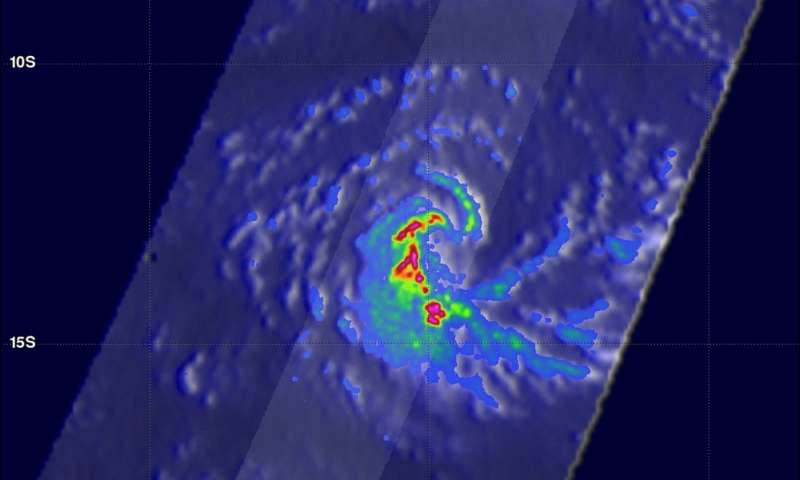 GPM sees heavy rain in Tropical Cyclone Fantala