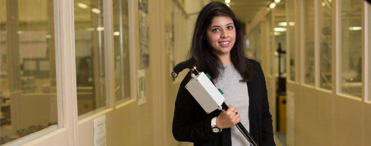 Granddaughter of Parkinson's patient invents 'smart' walking stick to help thousands of sufferers