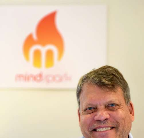 Gray Benoist, co-founder and president of Mindspark pictured at his offices on August 24, 2016 in Santa Monica, California