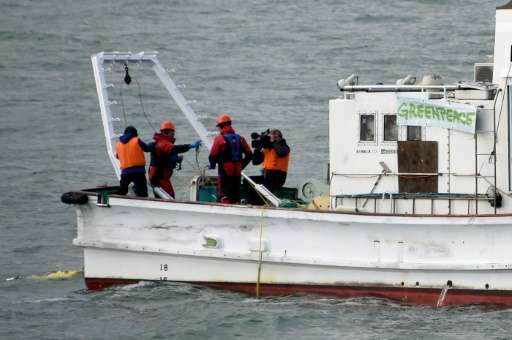 Greenpeace is surveying waters near the Fukushima plant, dredging up sediment from the ocean floor to check both for radiation &