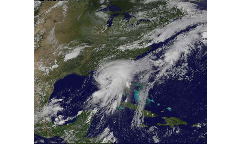 Hermine becomes a hurricane in the Gulf of Mexico