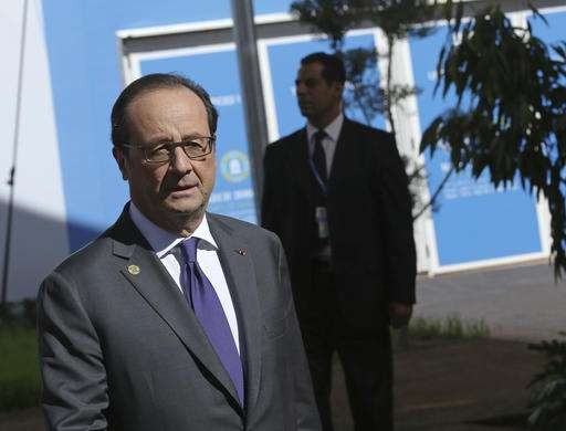 Francois Illas New Tradition: Hollande: US Must Respect 'irreversible' Climate Deal