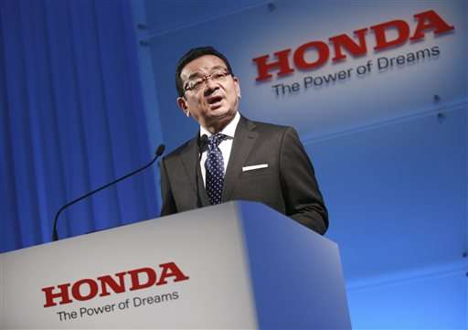 Honda plans no Takata rescue, bullish on green vehicles