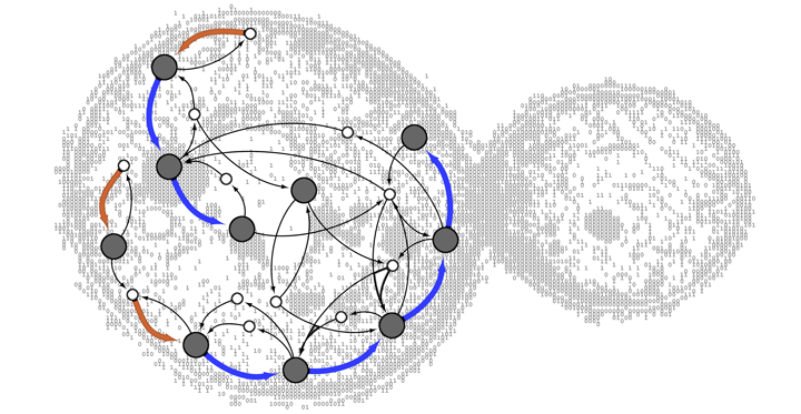 How did the modern biological cell acquire its transport system?