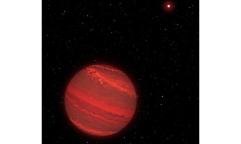 Hubble directly measures rotation of cloudy 'super-Jupiter'