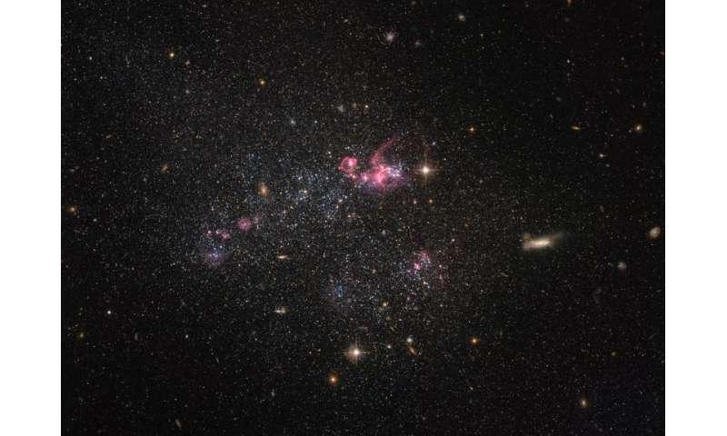 Hubble peers at a distinctly disorganized dwarf galaxy