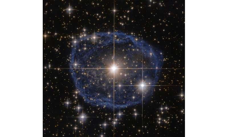 Hubble's blue bubble