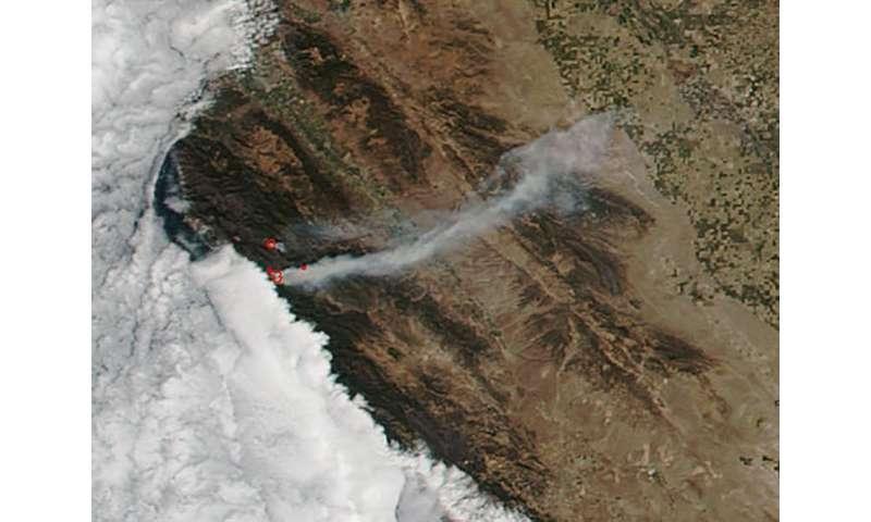 Image: California's Soberanes Fire still burns on