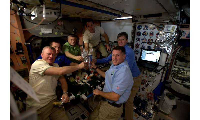 Image: Celebrating Thanksgiving aboard the international space station