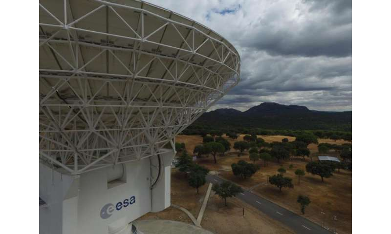 Image: Drone inspection of ESA's deep-space tracking station at Cebreros