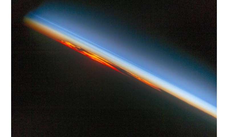 Image: Fiery south Atlantic sunset