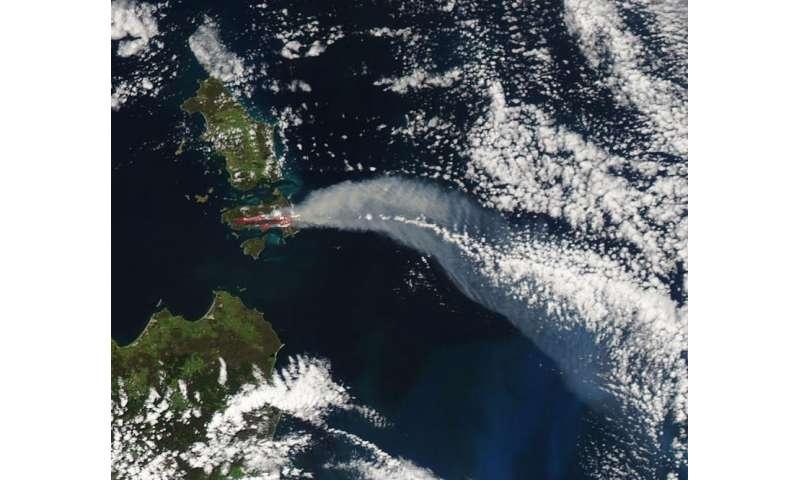 Image: Fires on Cape Barren Island, Australia
