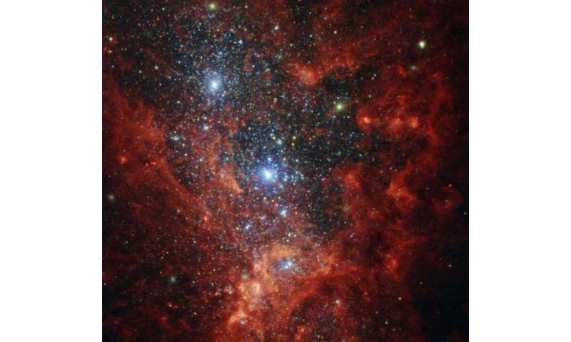 Image: Hubble hotbed of vigorous star formation