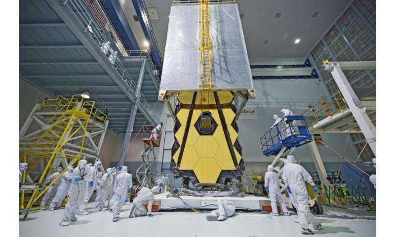 Image: NASA's Webb Telescope clean room 'transporter'