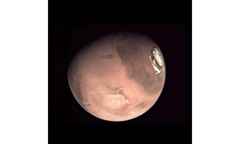 Image: New Mars global composite from Mars Express webcam photos