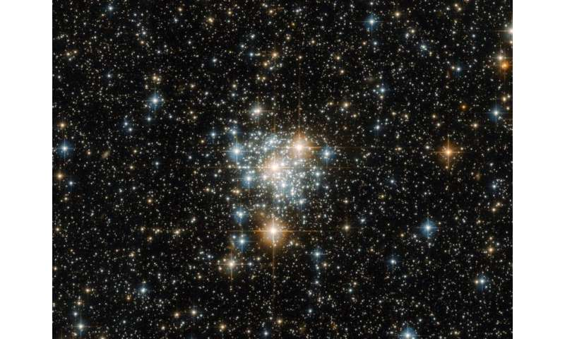 Image: NGC 299, an open star cluster located within the Small Magellanic Cloud