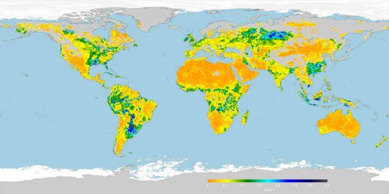 Image: Root-zone soil moisture map