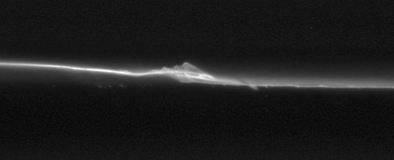 Image: Saturn's moonlets disrupting a core ring