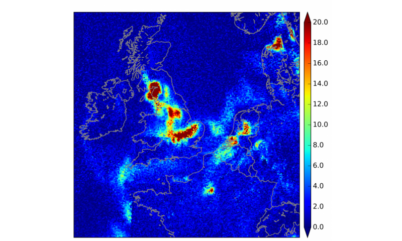 Image: Simulating Tropomi data for improved air-quality forecasts