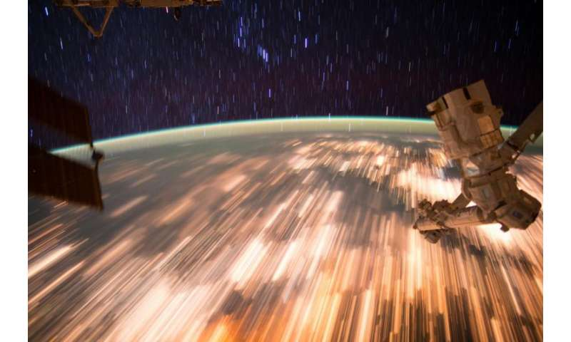 Image: Star trails seen from low Earth orbit