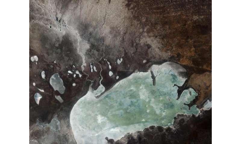 Image: The Etosha salt pan in northern Namibia, from orbit
