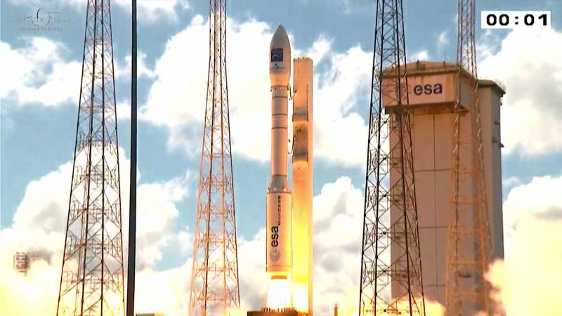 Image: Vega lofts Turkey's Earth observation satellite