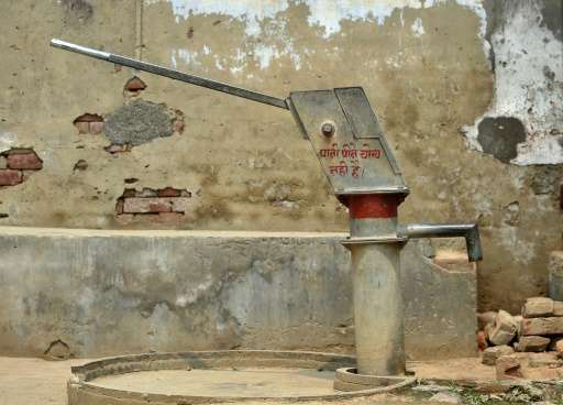 In India's Gangnauli village, authorities have painted a red stripe on communal handpumps to warn residents after testing found