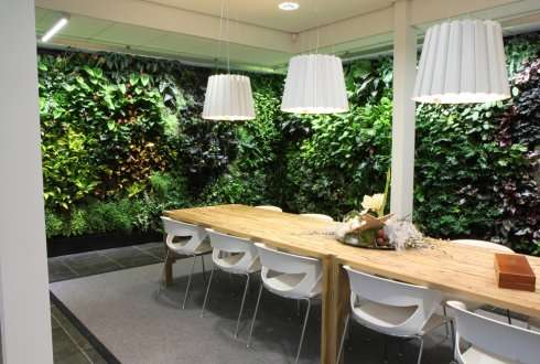 Interior climate effects of plants in offices and care institutions