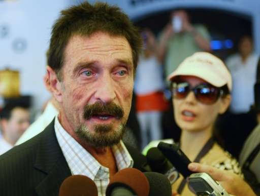 John McAfee talks to the media on December 13, 2012 in Miami Beach, Florida
