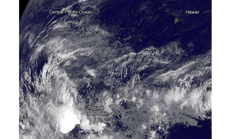 Late-season Central Pacific tropical depression forms
