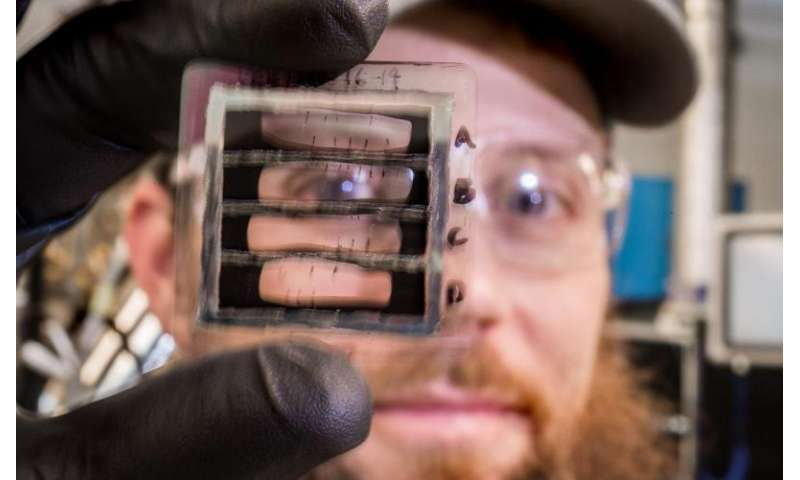 Lightening soldiers' loads by lifting PV cells onto flexible surfaces