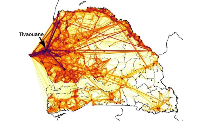 Mapping migrations by using mobile phone data