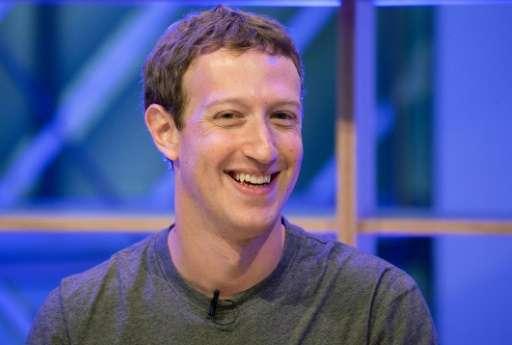 """Mark Zuckerberg speaks at the """"Facebook Innovation Hub"""" in Berlin, on February 25, 2016"""