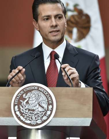 Mexico President Enrique Pena Nieto speaks during a meeting in Mexico City, in January 2016