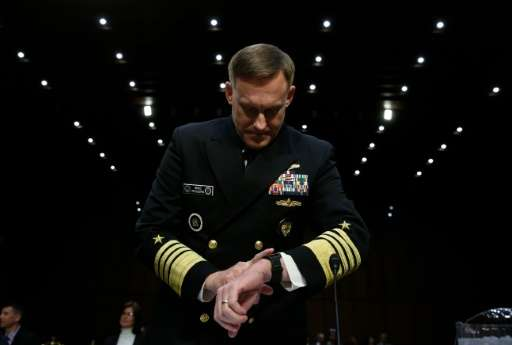 Michael S. Rogers, commander of the US Cyber Command, director of the National Security Agency and chief of Central Security Ser