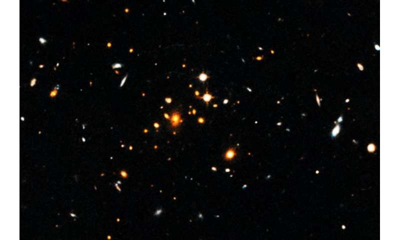 Most distant massive galaxy cluster identified