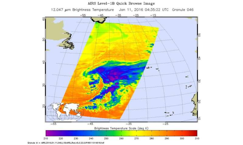 NASA eyeing an interesting weather system in northern Atlantic