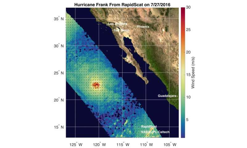 NASA finds Tropical Cyclone Frank fading