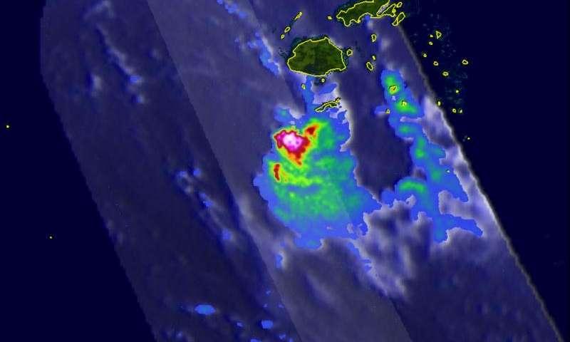 NASA finds very heavy rainfall in Tropical Cyclone Zena