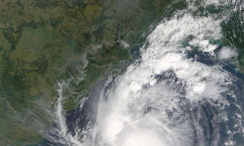 NASA follows Tropical Cyclone Kyant through Bay of Bengal