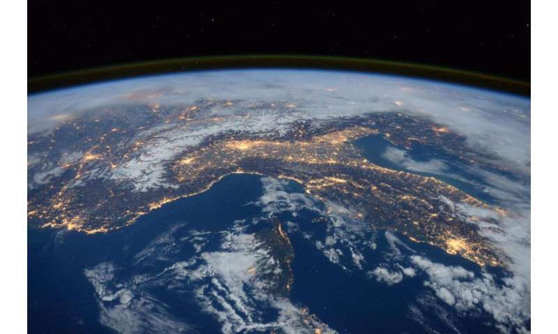 NASA image: Space station flyover of the mediterranean