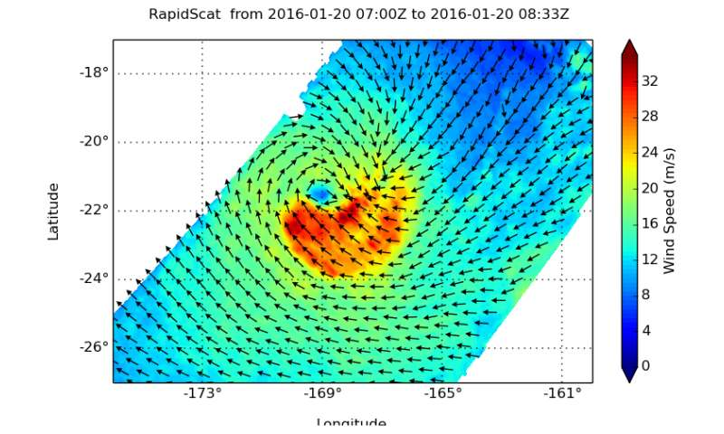 NASA measures winds in Tropical Cyclone Victor