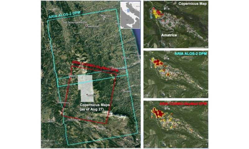 NASA-produced maps help gauge Italy earthquake damage